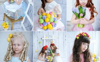Наши маленькие цветочные принцессы на весенних съемках